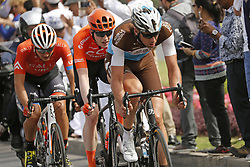 February 21, 2019 - Matrah Corniche, OMAN - Canadian Adam de Vos of Rally UHC Cycling, Belgian Nathan Van Hooydonck of CCC Team and Belgian Stijn Vandenbergh of AG2R La Mondiale pictured in action during the sixth stage of the Oman cycling Tour 2019, 135,5 km from Al Mouj Muscat to Matrah Corniche, Oman, Thursday 21 February 2019. This years Tour of Oman is taking place from 16 to 21 February...BELGA PHOTO YUZURU SUNADA FRANCE OUT (Credit Image: © Yuzuru Sunada/Belga via ZUMA Press)