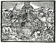 'Symbolic representation of the universal work of the alchemists.  From ''L'Azoth des philosophes'', Paris, 1660, by Basil Valentine.'
