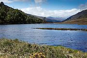 Looking west from the mouth of Loch Beannacharan, towards the upper reaches of Glen Strathfarrar.