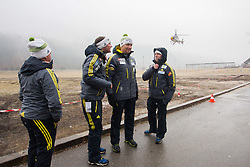 Slovenian coaches before take off to Planica with Flycom helicopter during FIS World Cup Ski Jumping Final, on March 22, 2015 in Planica, Slovenia. Photo by Ziga Zupan / Sportida