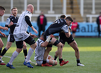 Rugby Union  - 2020 / 2021 Gallagher Premiership - Newcastle Falcons vs Gloucester - Kingston Park<br /> <br /> Mark Wilson of Newcastle Falcons is tackled by Alex Craig of Gloucester Rugby<br /> <br /> COLORSPORT/BRUCE WHITE