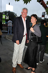 LANCE TREVELLYAN and GILLIAN DUKE at reception to see the installation of Horse at Water by Nic Fiddian-Green at Marble Arch, London on 14th September 2010.