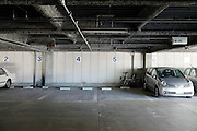 parking garage with by number dedicated spots