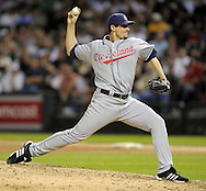 CHICAGO - JUNE 05:  Carl Pavano #44 of the Cleveland Indians pitches against the Chicago White Sox on June 5, 2009 at U.S. Cellular Field in Chicago, Illinois.  The Indians defeated the White Sox 6-0.  (Photo by Ron Vesely)