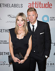 (L-R) Rachael Wools Flintoff and Andrew 'Freddie' Flintoff attend the 2016 Attitude Awards in association with Virgin Holidays, at 8 Northumberland Avenue, London. Monday October 10, 2016. Photo credit should read: Isabel Infantes / EMPICS Entertainment.
