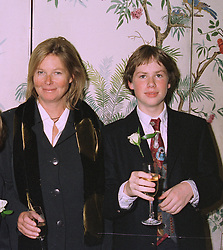 MRS VIVIAN RUSSELL ex wife of director Ken Russell and her son MR RUPERT RUSSELL at a luncheon in London on 15th October 1997.MCC 30 2ORO