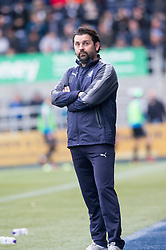 Falkirk's new manager Paul Hartley. Falkirk 0 v 0 Inverness Caledonian Thistle, Scottish Championship game played 14/10/2017 at The Falkirk Stadium.
