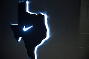 """A general view of one of the high school locker rooms in The Ford Center at The Star in Frisco, Texas on August 23, 2016. Frisco ISD recently signed a partnership with Nike and will share The Ford Center with the Dallas Cowboys who use the facility for indoor practices. """"CREDIT: Cooper Neill for The Wall Street Journal""""<br /> TX HS Football sponsorships"""