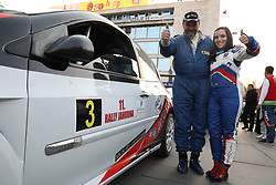 SARAJEVO, Oct. 15, 2017  Competitors from Slovenia pose for a photo before the start of the 11th Rally Jahorina 2017, in Sarajevo, Bosnia and Herzegovina (BiH), on Oct. 14, 2017. Fans of speed engaged in the six speed exams on the 11th Rally Jahorina 2017 driven through the capital of BiH Sarajevo and Trebevic and Jahorina Mountains in the vicinity during the weekend. (Credit Image: © Haris Memija/Xinhua via ZUMA Wire)