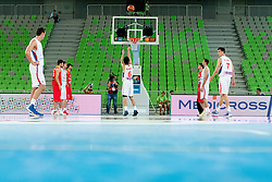 Nenad Miljenovic of Serbia during basketball match between National teams of Serbia and Spain in Placement match for 3rd place of U20 Men European Championship Slovenia 2012, on July 22, 2012 in SRC Stozice, Ljubljana, Slovenia. (Photo by Urban Urbanc / Sportida.com)