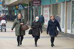 © Licensed to London News Pictures 02/03/2021.        Bexleyheath, UK. People out and about in Bexleyheath, South East London today during a third national coronavirus lockdown. Non-essential shops could open in weeks if the Covid-19 infection rate keeps dropping. Photo credit:Grant Falvey/LNP