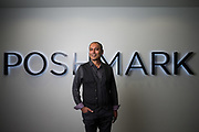 Poshmark CEO Manish Chandra poses for a portrait at Poshmark in Redwood City, California, on August 25, 2017. (Stan Olszewski for Silicon Valley Business Journal)