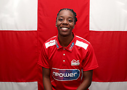 Team England's Lorraine Ugen poses for a photo during the kitting out session at Kukri Sports HQ, Preston.