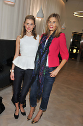 Left to right, DONNA AIR and KIM HERSOV at a ladies breakfast hosed by At Last! held at Grace, 11c West Halkin Street, London on 29th January 2013.