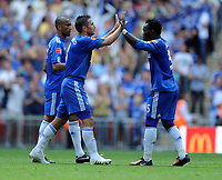 Frank Lampard Celebrates Scoring 2nd goal<br /> Chelsea 2009/10<br /> Chelsea V Manchester United (2-2) 09/08/09<br /> Chelsea Win on Penalties (4-1) During Penalty Shootout<br /> The FA Community Shield 2009 Wembley Stadium<br /> Photo Robin Parker Fotosports International