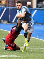 Rugby Union - 2018 / 2019 European Rugby Champions Cup - Pool Three: Cardiff Blues vs. Lyon<br /> <br /> Aled Summerhill; of Cardiff Blues: attacks , at Cardiff Arms Park.<br /> <br /> COLORSPORT/WINSTON BYNORTH