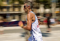 Daniele Caimmi of Italy competes in the Mens Marathon during day six of the 20th European Athletics Championships at the roads of city Barcelona on August 1, 2010 in Barcelona, Spain. (Photo by Vid Ponikvar / Sportida)