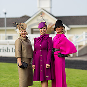 09.10.2016           <br /> The winner of the Keanes Jewellers Best dressed competition at Limerick Racecourse was Sharon Kennedy (centre) of Clareview Limerick who won a diamond pendent to the value of €4,000, Margaret Hynes Cahill, (right) Ardfert Co. Kerry won 2nd prize of a complete outfit for Aisling Maher Boutique Adare and Mary O'Halloran from Dublin (left) won a luxury hamper from Inis - The Energy of the Sea. Picture: Alan Place