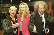 Director Mike Figgis (right) at the Cameo cinema in Edinburgh for the Scottish premiere of the film 'Miss Julie' with stars Peter Mullan and Saffron Burrows, part of the Edinburgh International Film Festival. .....