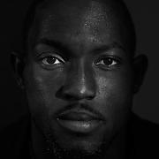A portrait of sprinter Nickel Ashmeade, Jamaica, at the Adidas Grand Prix Press Conference, Hyatt Grand Central, New York ahead of he Adidas Grand Prix at Icahn Stadium, Randall's Island. Manhattan, New York. 23rd May 2012. Photo Tim Clayton
