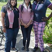 NLD/Abcoude/20120530 - Gekleurde bn' ers gaan multicultureeel golfen, CPG, Peggy Sandaal, Carolina Dijkhuizen en Gity Pregers