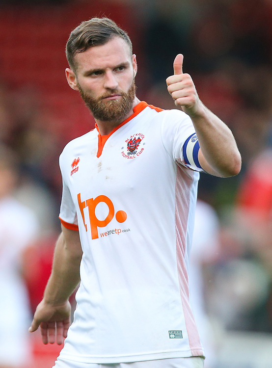 Blackpool's Jimmy Ryan applauds the fans after the match<br /> <br /> Photographer Alex Dodd/CameraSport<br /> <br /> The EFL Sky Bet League One - Walsall v Blackpool - Saturday 14th October 2017 - Bescot Stadium - Walsall<br /> <br /> World Copyright © 2017 CameraSport. All rights reserved. 43 Linden Ave. Countesthorpe. Leicester. England. LE8 5PG - Tel: +44 (0) 116 277 4147 - admin@camerasport.com - www.camerasport.com