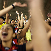 Flamengo fans get behind their team with loud singing during the Flamengo v Vasco da Gama, Futebol Brasileirao 2010 League match at the Jornalista Mário Filho, Maracana Stadium, Rio de Janeiro,  Brazil. 1st August 2010. Photo Tim Clayton..