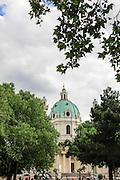 Vienna, Karlsplatz, (Karlskirche) St. Charles Church