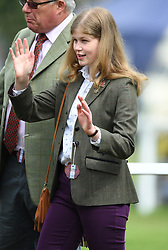 Members of The Royal Family attend the fourth day of the Royal Windsor Horse Show at Home Park, Windsor Castle, Windsor, Berkshire, UK, on the 12th May 2018. 12 May 2018 Pictured: Lady Louise Windsor. Photo credit: James Whatling / MEGA TheMegaAgency.com +1 888 505 6342