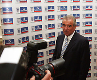 Photo: Chris Ratcliffe.<br />England Press Conference. 11/08/2006.<br />Terry Venables addresses the media as Steve McClaren's assistant.