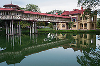 Sanam Chandra Palace was built in a combination of French and English styles, with adaptations for the tropical climate of Thailand.  The palace was built from 1907 to 1911 by Thai King Rama VI. Sanam Chandra Palace has a view of nearby Phra Pathom Chedi.