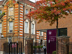 The University College School in Hampstead, North London, which has reconsidered its permission for a limited number of helicopter landings and take-offs from its playing fields after complaints from neighbours. Hampstead, London, October 12 2018.