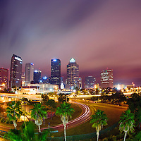 The Tampa skyline at dawn, after dodging torrential downpours. Ah, Florida!