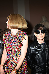 Anna Wintour and Rei Kawakubo attend the Press Preview of Rei Kawakubo/Comme des Garcons: Art of the In-Between exhibit at The Costume Institute at the Metropolitan Museum of Art on May 1, 2017 in New York, New York, USA.  *** Please Use Credit from Credit Field ***