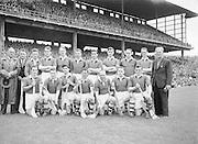 Neg No:.569/7823-7826...8081954AISHCSF1...08.08.1954...All Ireland Senior Hurling Championship - Semi-Final..Wexford.12-17..Antrim.2-3...Wexford. ..A. Foley, W. Rackard, N. ODonnell, M. OHanlon, J. English, R. Rackard, E. Wheeler, J. Morrissey, S. Hearne, Paddy Kehoe, T. Flood, Padge Kehoe (Captain), T. Ryan, N. Rackard, R. Donovan.Subs: T. Bolger for ODonnell; D. Aherne for Paddy Kehoe.Padge Kehoe (Captain). ..Wexford. .A. Foley, W. Rackard, N. ODonnell, M. OHanlon, J. English, R. Rackard, E. Wheeler, J. Morrissey, S. Hearne, Paddy Kehoe, T. Flood, Padge Kehoe (Captain), T. Ryan, N. Rackard, R. Donovan.Subs: T. Bolger for ODonnell; D. Aherne for Paddy Kehoe.Padge Kehoe (Captain).