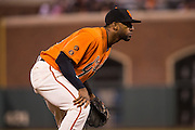 San Francisco Giants third baseman Eduardo Nunez (10) waits for a play against the St. Louis Cardinals at AT&T Park in San Francisco, Calif., on September 16, 2016. (Stan Olszewski/Special to S.F. Examiner)