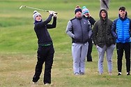 Fionn Hickey (Muskerry) the 17th during Round 3 of the Ulster Boys Championship at Donegal Golf Club, Murvagh, Donegal, Co Donegal on Friday 26th April 2019.<br /> Picture:  Thos Caffrey / www.golffile.ie