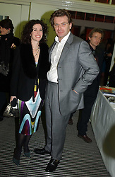 MOLLIE DENT-BROCKLEHURST and her husband DUNCAN WARD at the Art Plus Dance Party 2005 - an evening of live dance, film and partying held at the Whitechapel Art Gallery, 80-82 Whitechapel High Street, London on 21st March 2005.<br /><br />NON EXCLUSIVE - WORLD RIGHTS