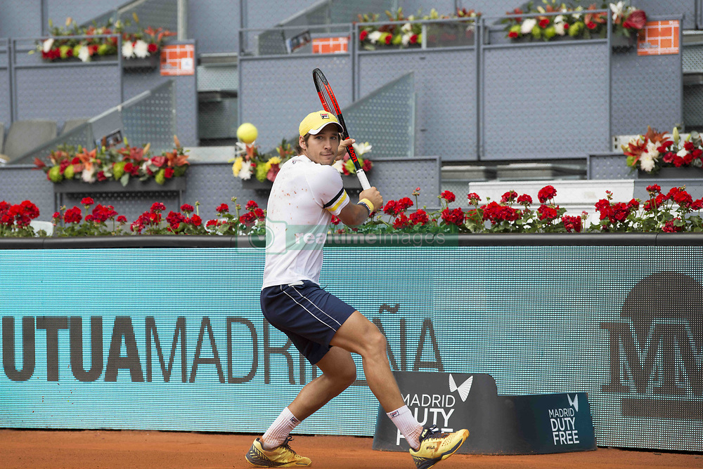 May 11, 2018 - Madrid, Madrid, Spain - DUSAN LAJOVIC in a match against KEVIN ANDERSON during the quarter finals of Mutua Madrid Open 2018 - ATP in Madrid. KEVIN ANDERSON won the match 7-6(3) 3-6 6-3. (Credit Image: © Patricia Rodrigues via ZUMA Wire)