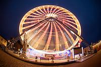 Ferris wheel at night, Rostock, Germany