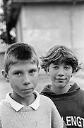Daniel Hostic and his twin sister Daniela at the orphanage of Popricani when they were 14 in 1997