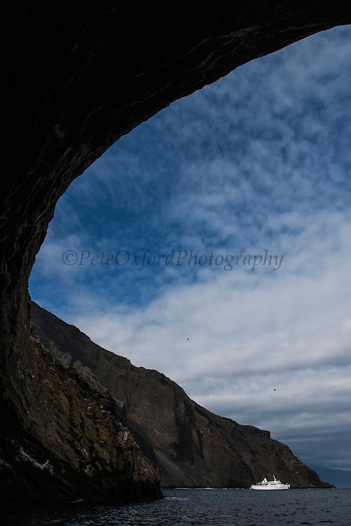 Cave at Vicente Roca<br /> Isabela<br /> Galapagos<br /> Ecuador, South America