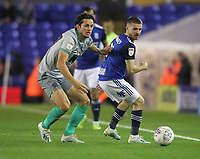 Blackburn Rovers Stewart Downing in action with Birmingham City's Dan Crowley <br /> <br /> Photographer Mick Walker/CameraSport<br /> <br /> The EFL Sky Bet Championship - Birmingham City v Blackburn Rovers - Tuesday 22nd October 2019 - St Andrew's - Birmingham<br /> <br /> World Copyright © 2019 CameraSport. All rights reserved. 43 Linden Ave. Countesthorpe. Leicester. England. LE8 5PG - Tel: +44 (0) 116 277 4147 - admin@camerasport.com - www.camerasport.com