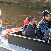 NLD/Amsterdam/20160116 - Photocall en premiere Ride Along 2, Ice Cube en Kevin Hart op een boot