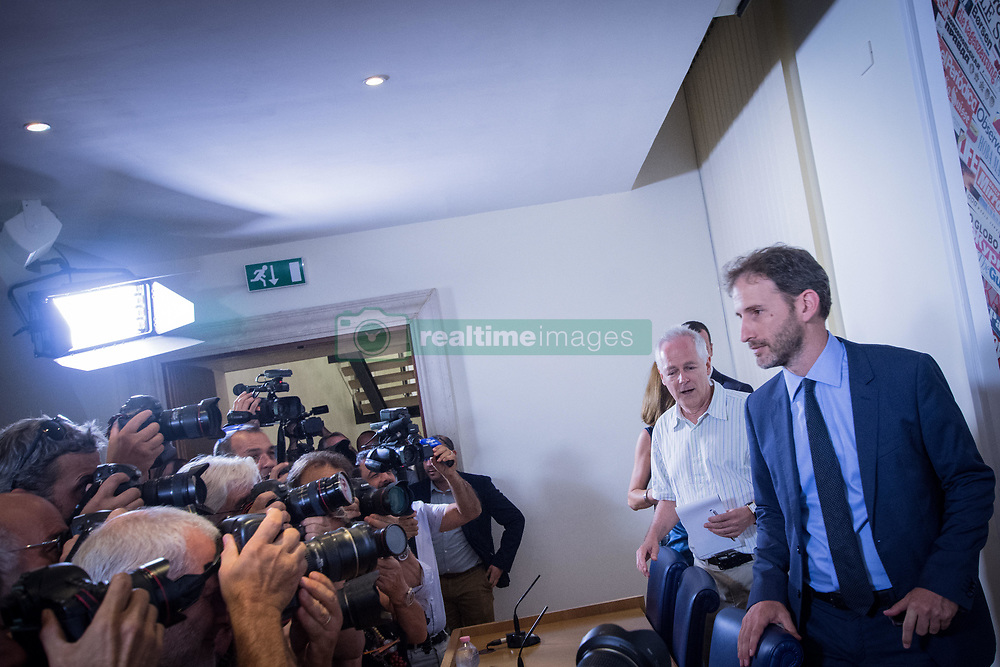 August 2, 2017 - Rome, Italy, Italy - Davide Casaleggio during a press conference in Rome, on August 2, 2017. Italy's anti-establishment Five Movement (M5S) party Davide Casaleggio and president of 'Casaleggio Associati', a company specializing in the definition on innovative networking strategies , give a press conference at the Stampa Esterea ''Foreign Press Association' (Credit Image: © Andrea Ronchini/NurPhoto via ZUMA Press)