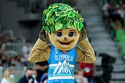 Mascot Lipko during friendly basketball match between National teams of Slovenia and Croatia, on June 18, 2021 in Arena Stozice, Ljubljana, Slovenia. Photo by Vid Ponikvar / Sportida