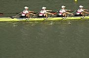 Seville, Andalusia, SPAIN<br /> <br /> 2002 World Rowing Championships - Seville - Spain Sunday 15/09/2002.<br /> <br /> Rio Guadalquiver Rowing course<br /> <br /> GER LM4X. <br /> MUELLER-GATERMANN, Andreas, <br /> BUDDE,  LEHNIGK, Joerg<br /> LEHNIGK, WITTWER, <br /> WITTWER, Jens<br /> <br /> [Mandatory Credit:Peter SPURRIER/Intersport Images]