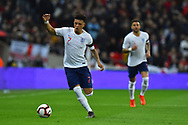 Jadon Sancho of England on the attack during the UEFA European 2020 Qualifier match between England and Czech Republic at Wembley Stadium, London, England on 22 March 2019.
