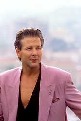 """Actor Mickey Rourke at the 1989 Cannes Film Festival to promote new film """"Francesco"""""""