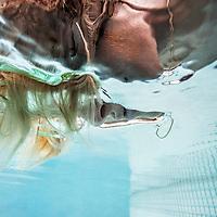 Njomza Vitia performing underwater